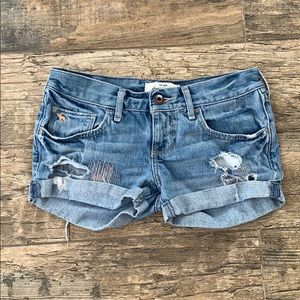 Abercrombie  distressed jeans shorts size 12
